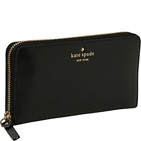 Tudor City Lacey Zip Around Continental Wallet Black