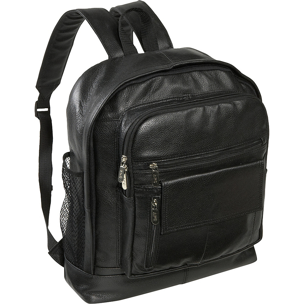 AmeriLeather Large Traditional Backpack - Black - Backpacks, Everyday Backpacks