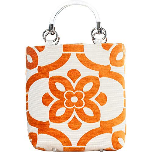 Baxter Designs Small Stencil Tote Orange
