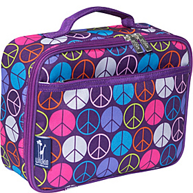 Peace Signs Purple Lunch Box Peace Signs Purple