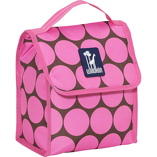 Wildkin Big Dots Pink Munch 'n Lunch Bag Big Dots - Pink - Wildkin Travel Coolers
