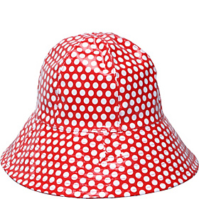Bucket Rain Hat Red Dots
