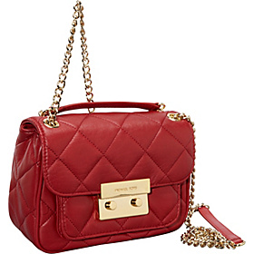 Sloan Small Quilted Crossbody Red