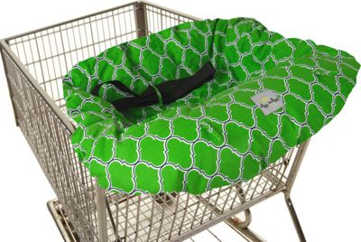 Itzy Ritzy Ritzy Sitzy Shopping Cart & High Chair Cover Emerald Trellis - Itzy Ritzy Diaper Bags & Accessories
