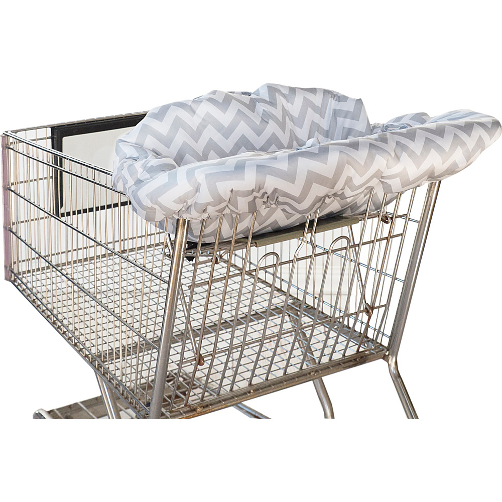 Itzy Ritzy Ritzy Sitzy Shopping Cart High Chair Cover C. Grey Chevron Itzy Ritzy Diaper Bags Accessories