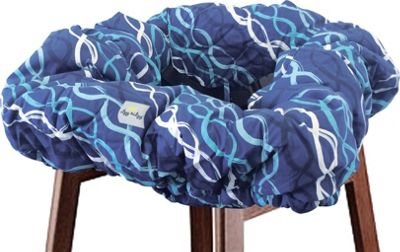 Itzy Ritzy Ritzy Sitzy Shopping Cart & High Chair Cover Indigo Helix - Itzy Ritzy Diaper Bags & Accessories