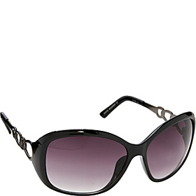 Oval Chain Sunglasses Black