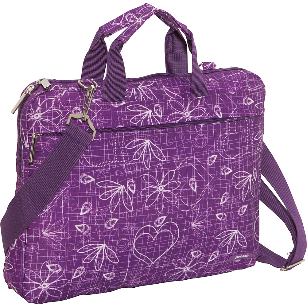 J World Jeanie Laptop Bag - Love Purple - Work Bags & Briefcases, Non-Wheeled Business Cases