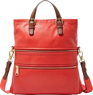 Fossil Explorer Tote Baked Apple - Fossil Leather Handbags