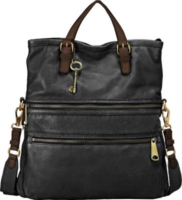 Fossil Explorer Tote Black - Fossil Leather Handbags