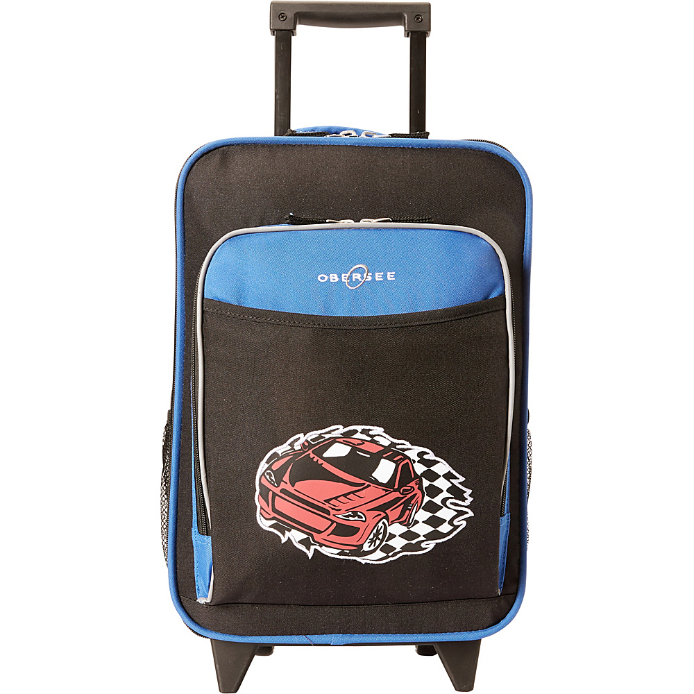 Obersee Kids Racecar Luggage With Integrated Cooler Racecar Obersee Softside Carry On