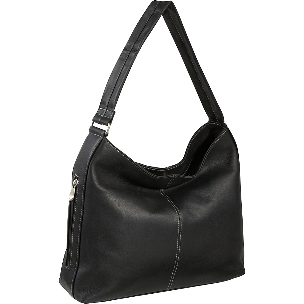 Le Donne Leather Shoulder Tote with Side Zip Pocket - Handbags, Leather Handbags
