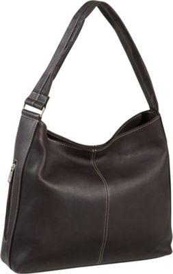 Le Donne Leather Shoulder Tote with Side Zip Pocket