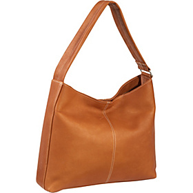 Shoulder Tote with Side Zip Pocket Tan