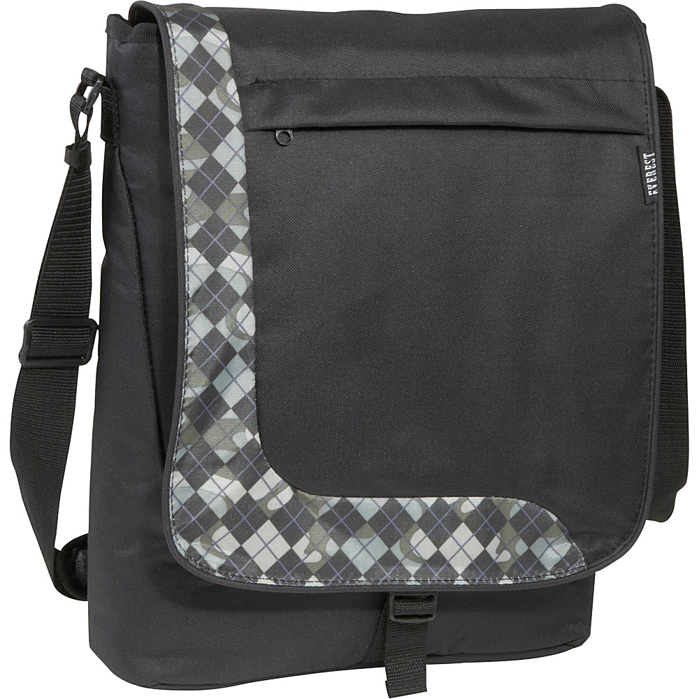 Everest Deluxe Laptop Messenger - Olive Khaki Black - Work Bags & Briefcases, Messenger Bags