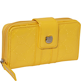 Hello Kitty Yellow Embossed Wallet Bright Yellow