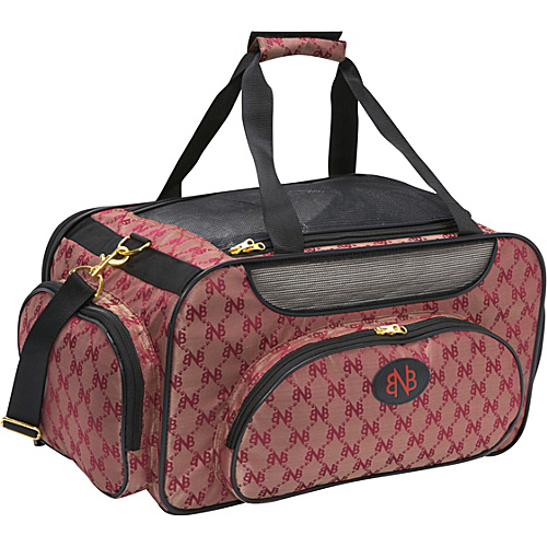 Bark n Bag Signature Weekender Carrier Large Red/Logo - Bark n Bag Pet Bags