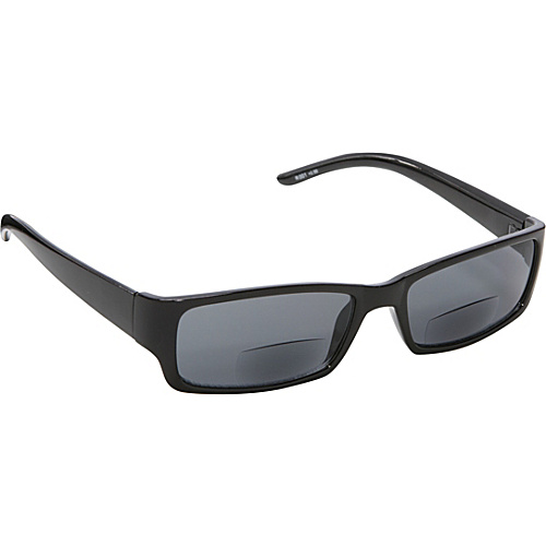 SW Global Rectangle Fashion Sunglasses Black with Vision Power 2.5 Black - SW Global Eyewear