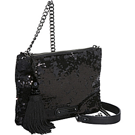 Night Shine Sequins Louisa Crossbody Black