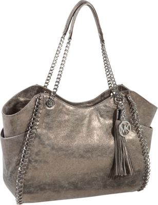 MICHAEL Michael Kors Chelsea Large Shoulder Tote - Metallic Canvas