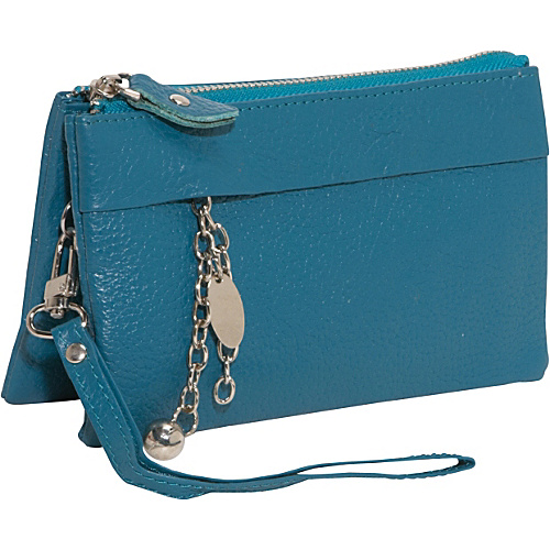 AmeriLeather Candace Clutch Wristlet - Teal