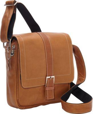 David King & Co. Deluxe Medium Messenger w/ Buckle Tan - David King & Co. Other Men's Bags