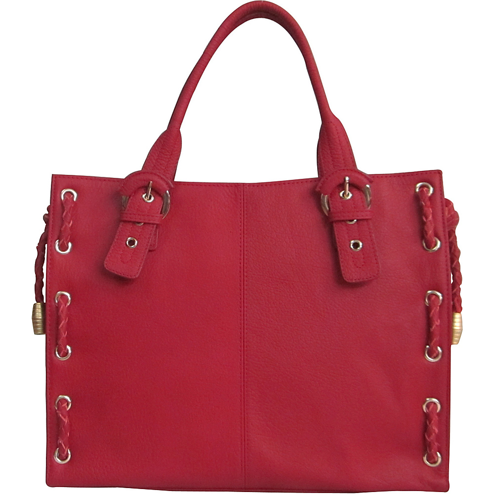 AmeriLeather Double Handle Tote - Vintage Burgundy - Handbags, Leather Handbags