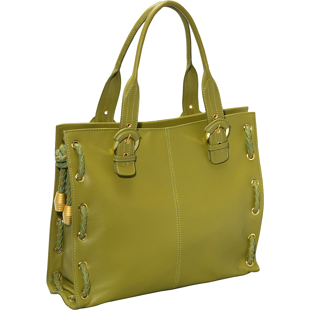 AmeriLeather Double Handle Tote - Avocado - Handbags, Leather Handbags