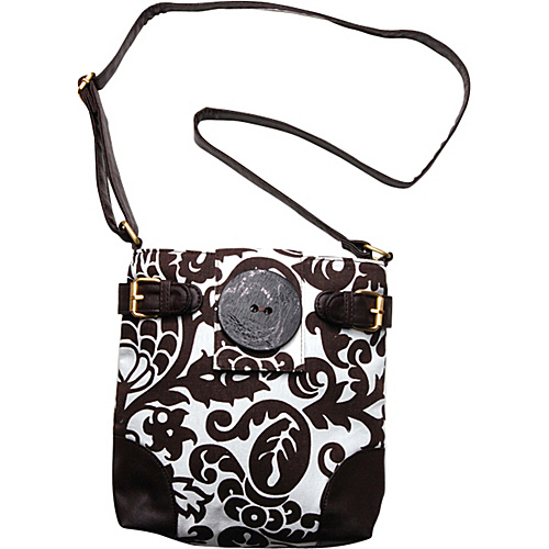 Flying Daisies Amsterdam Essential Handbag Purse Brown and White