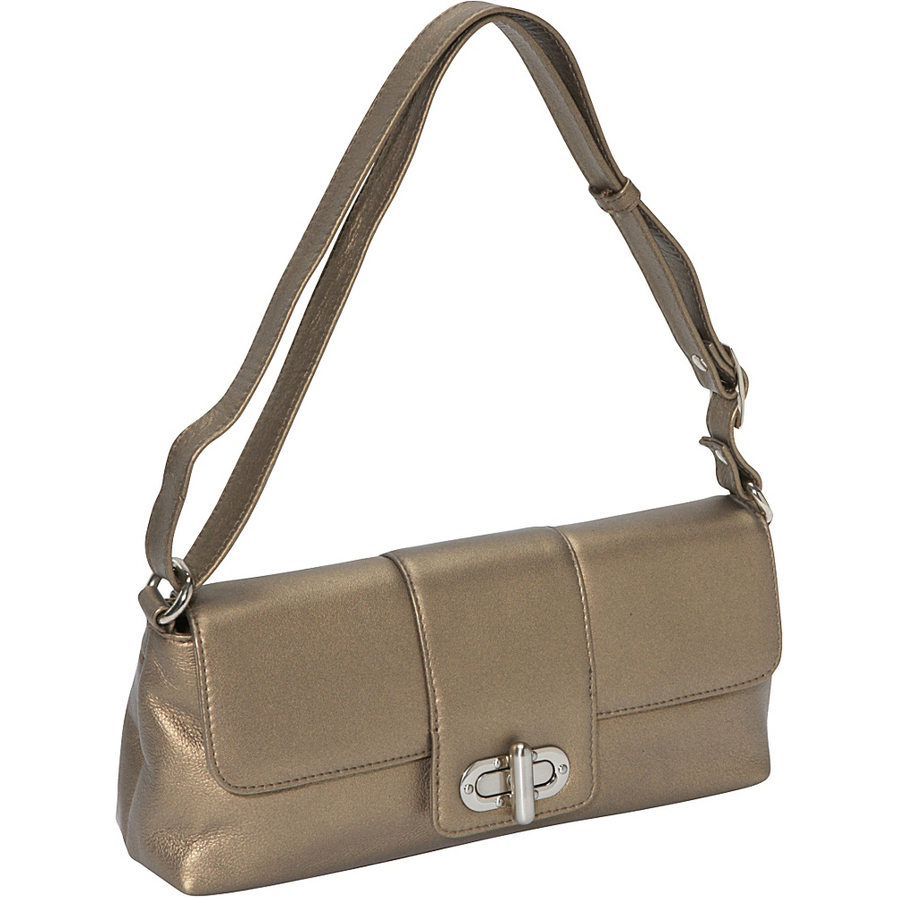 Derek Alexander EW Half Flap GOLD - Derek Alexander Leather Handbags - Handbags, Leather Handbags