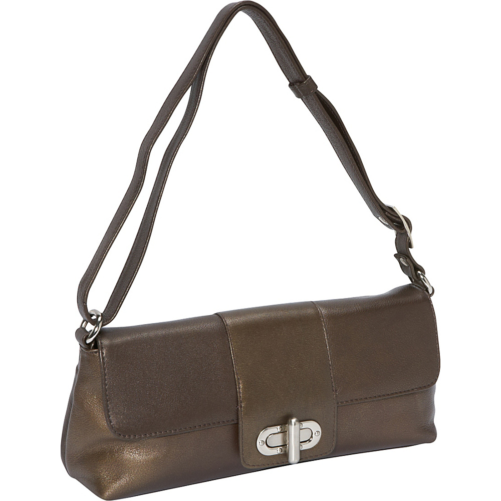 Derek Alexander EW Half Flap Bronze - Derek Alexander Leather Handbags - Handbags, Leather Handbags