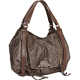 Jonnie Metallic Snake Shopper Metallic Taupe