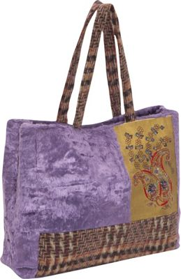 Moyna Handbags Velvet Bag With Sequin & Glass Beads Purple - Moyna Handbags Fabric Handbags