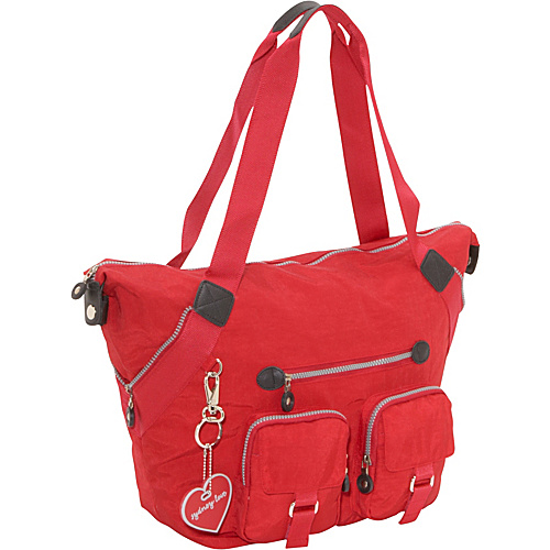 Sydney Love Sydney Love Sport Large Tote Red - Sydney Love Fabric Handbags