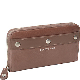 Adele Long Zipped Wallet Taupe