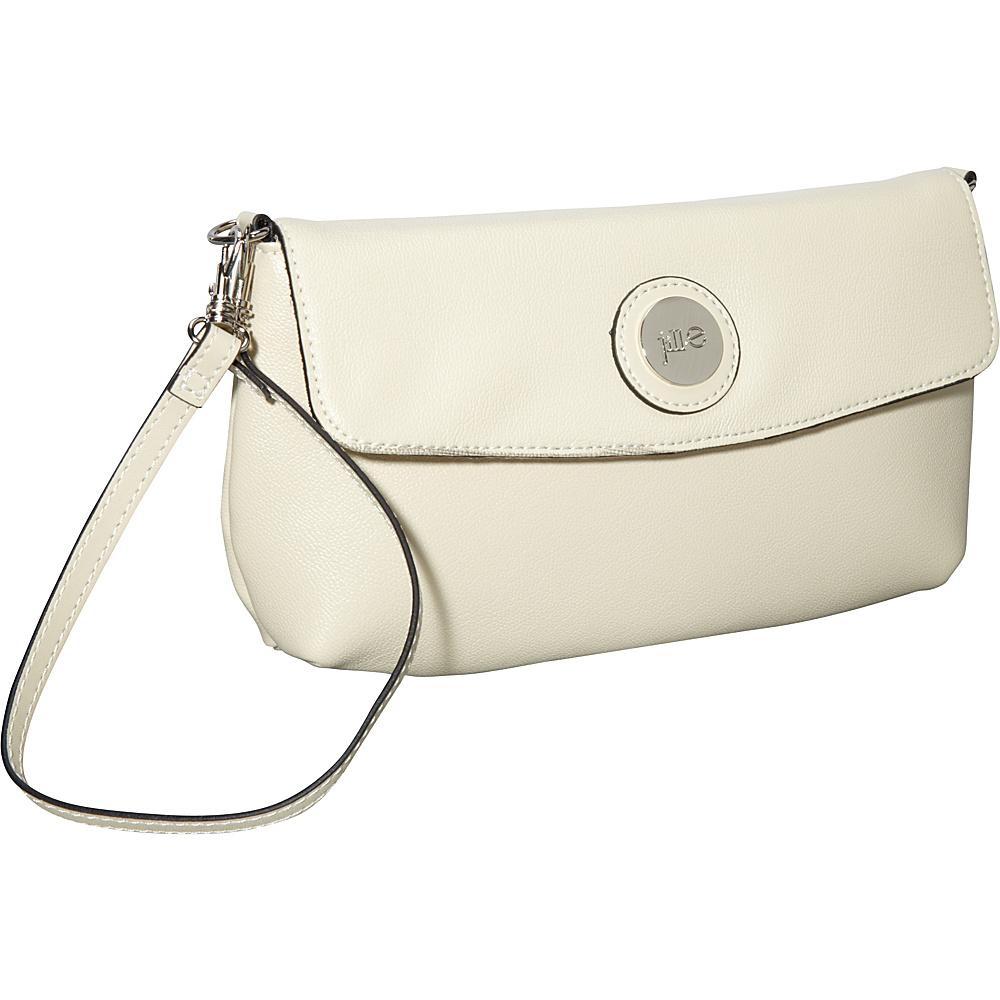 Jill e Designs E GO Leather Essential Wristlet Vanilla Jill e Designs Leather Handbags