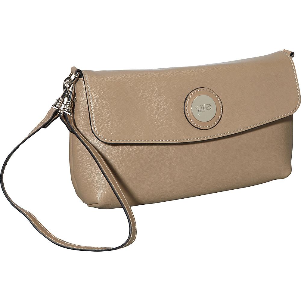 Jill e Designs E GO Leather Essential Wristlet Starfish Taupe Jill e Designs Leather Handbags