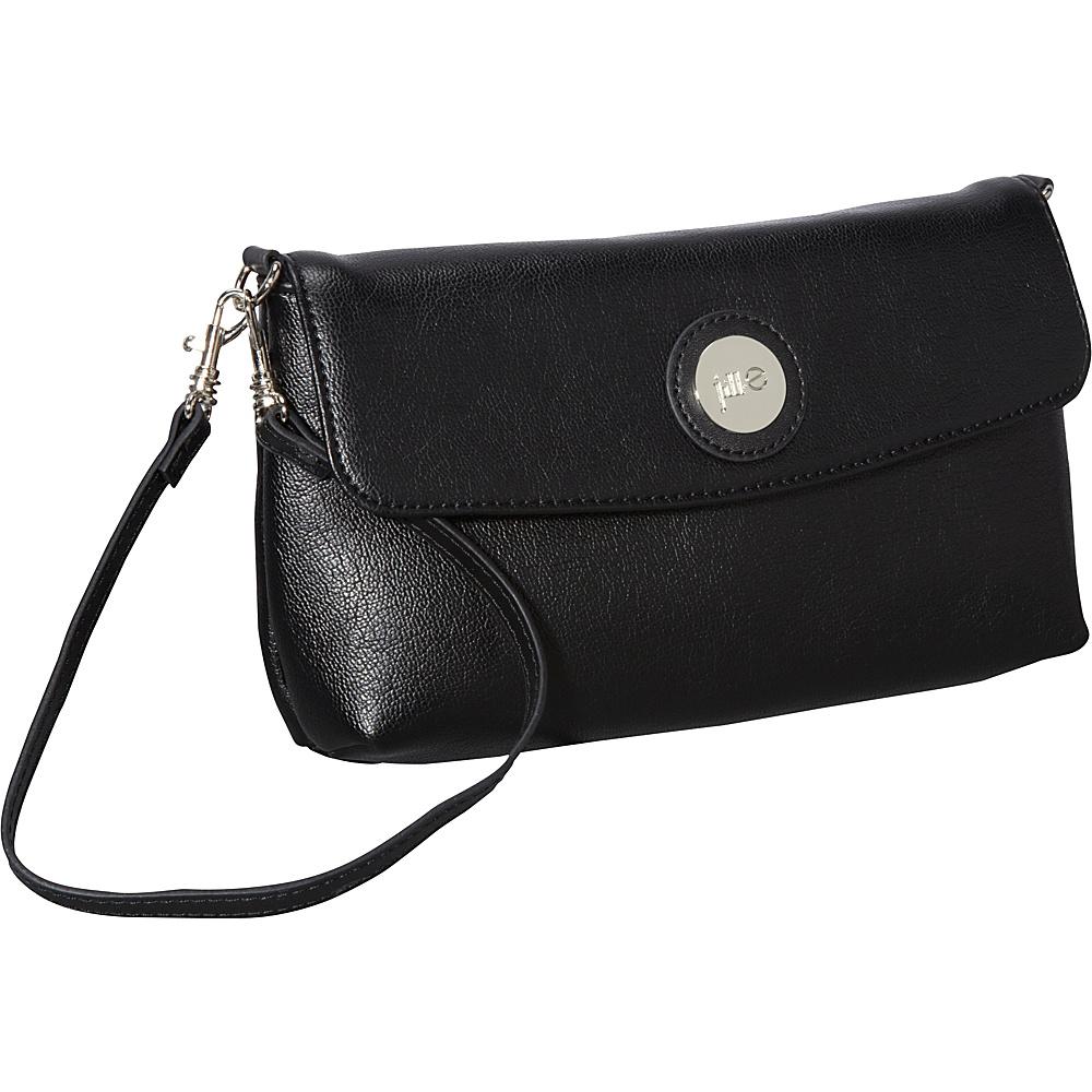 Jill e Designs E GO Leather Essential Wristlet Black Jill e Designs Leather Handbags