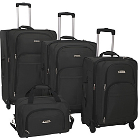 Illusion Spinner 4 Piece Luggage Set Black