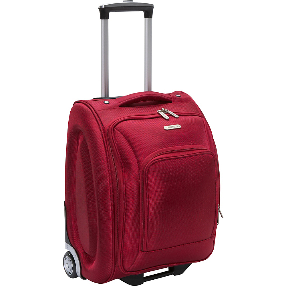 "Travelon Wheeled Underseat Carry-On Luggage - 18"" Red - Travelon Softside Carry-On"