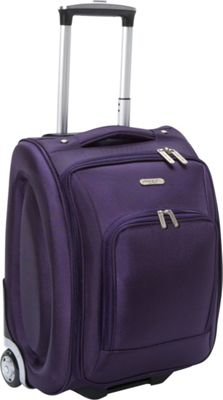 Travelon Wheeled Underseat Carry-On Luggage - 18 inch Purple - Travelon Softside Carry-On