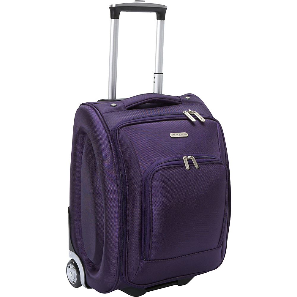 "Travelon Wheeled Underseat Carry-On Luggage - 18"" Purple - Travelon Softside Carry-On"