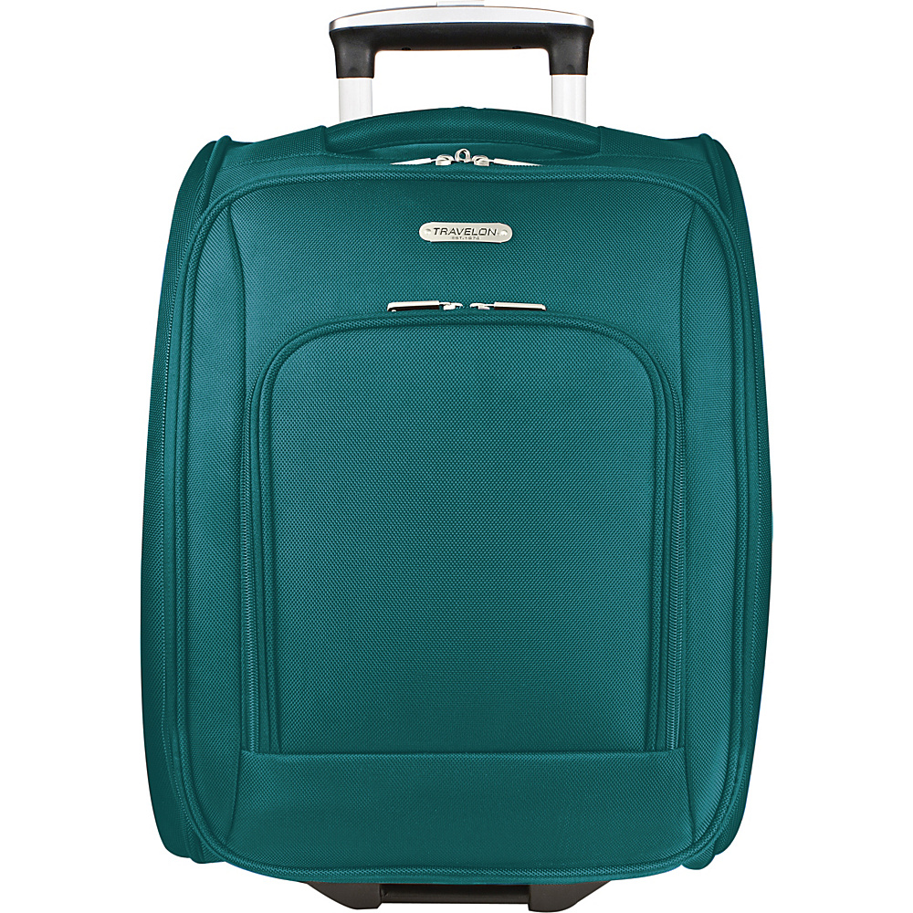 Travelon Wheeled Underseat Carry-On Luggage - 18 Teal - Travelon Softside Carry-On - Luggage, Softside Carry-On