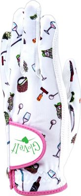 Glove It Nine and Wine Glove White and Pink Print Left Hand Med - Glove It Sports Accessories