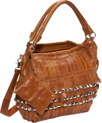 AmeriLeather Studded Tutu Leather Hobo Brown - AmeriLeather Gym Bags