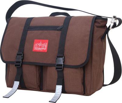 Manhattan Portage Trotter 15 inch Laptop Messenger Bag Dark Brown - Manhattan Portage Messenger Bags