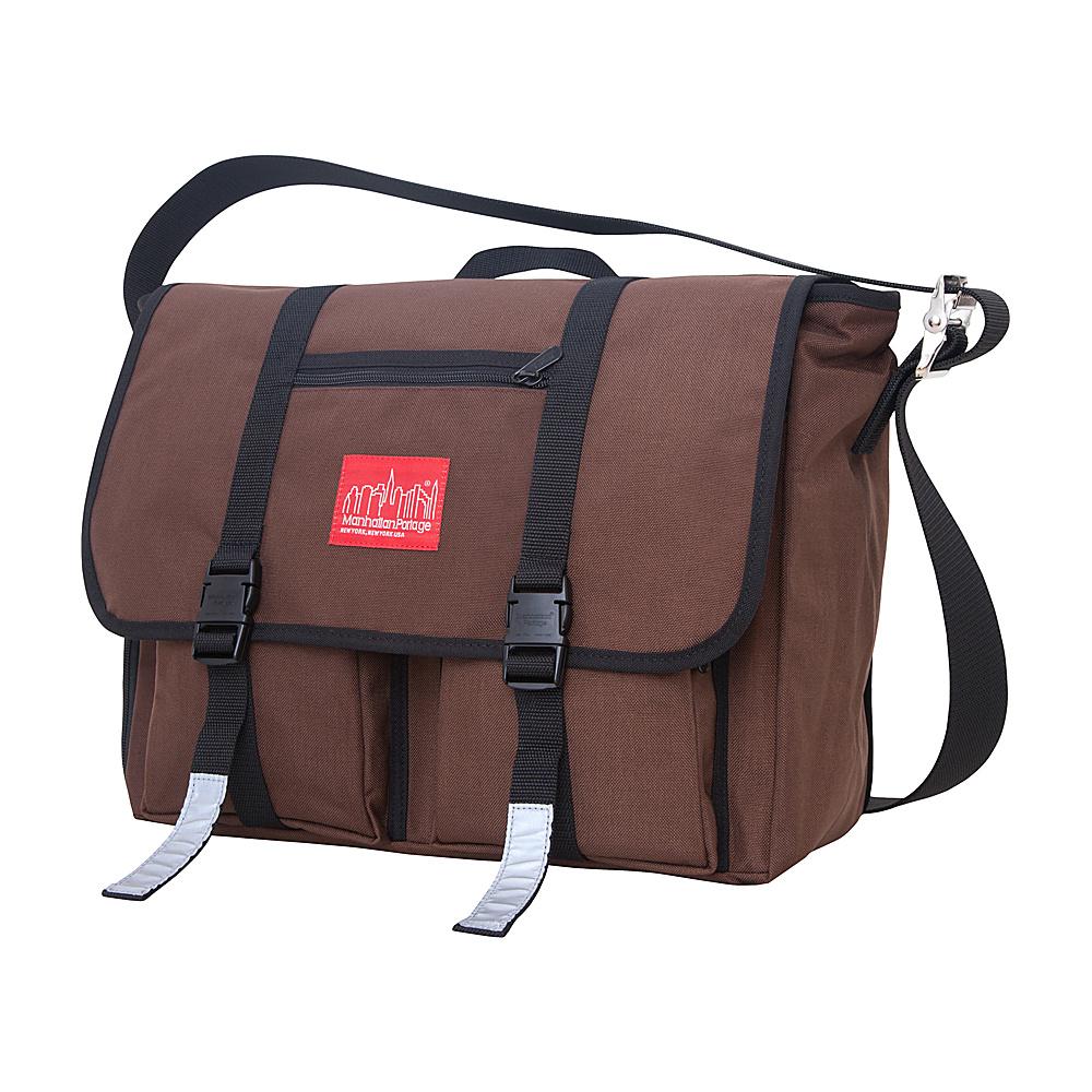 Manhattan Portage Trotter 15 Laptop Messenger Bag Dark Brown - Manhattan Portage Messenger Bags - Work Bags & Briefcases, Messenger Bags
