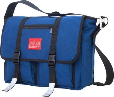 Manhattan Portage Trotter 15 inch Laptop Messenger Bag Navy - Manhattan Portage Messenger Bags