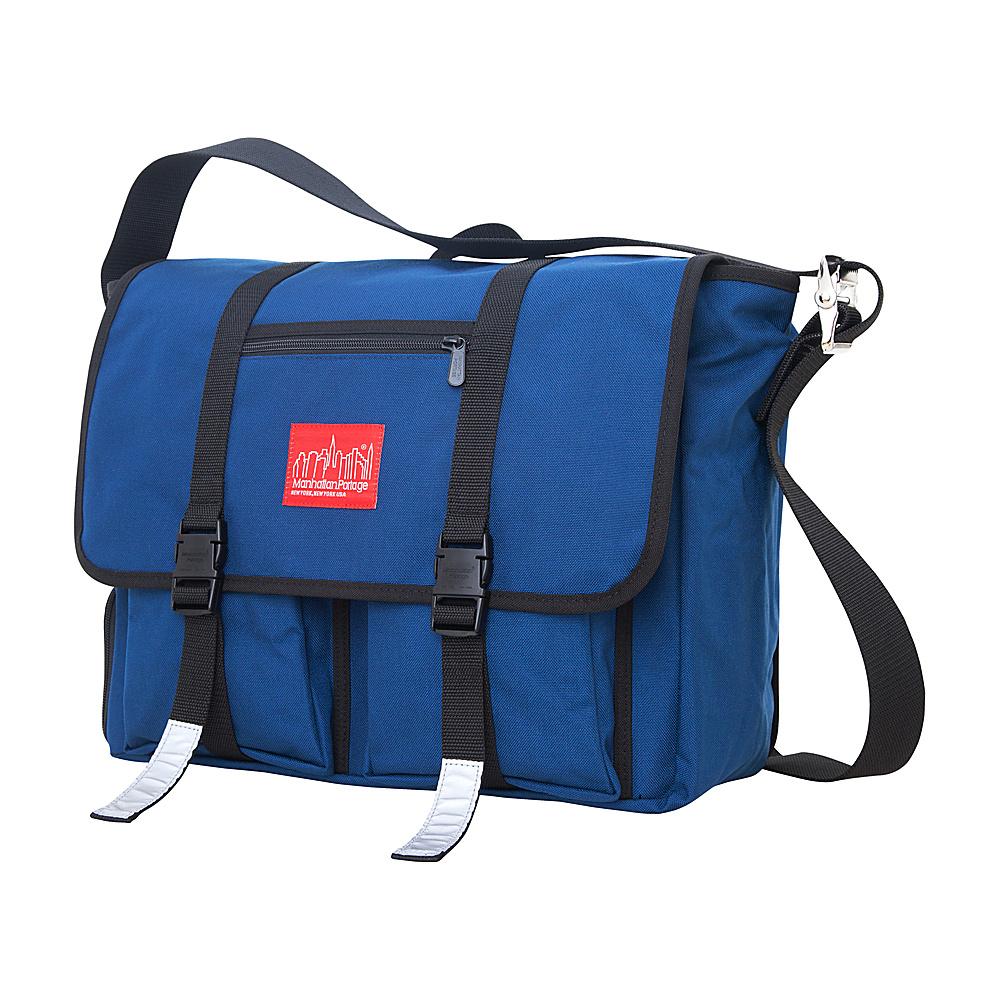 Manhattan Portage Trotter 15 Laptop Messenger Bag Navy - Manhattan Portage Messenger Bags - Work Bags & Briefcases, Messenger Bags