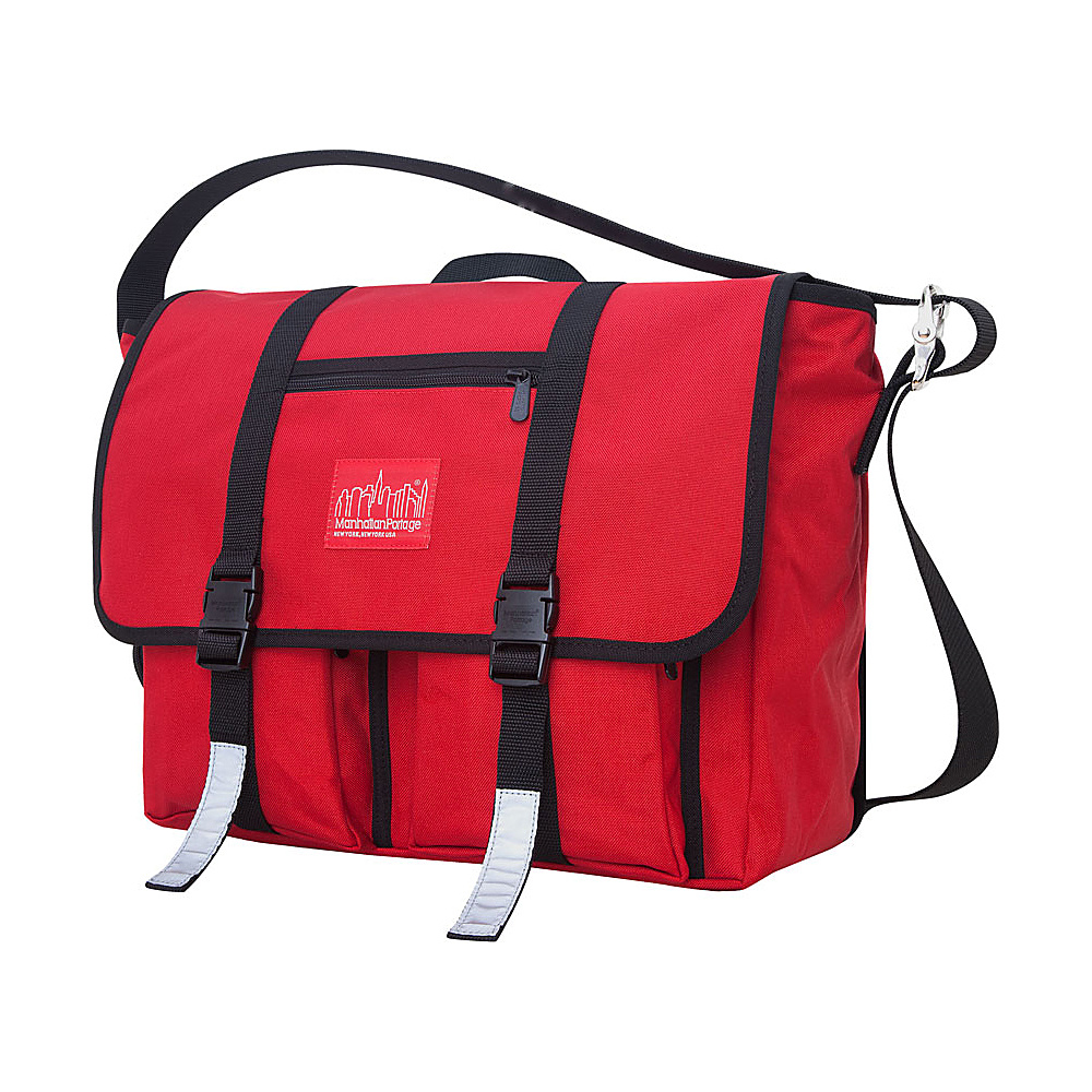 Manhattan Portage Trotter 15 Laptop Messenger Bag Red - Manhattan Portage Messenger Bags - Work Bags & Briefcases, Messenger Bags
